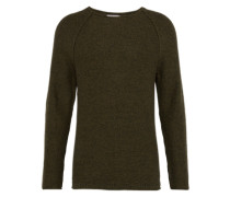 Pullover in Inside-Out-Design khaki