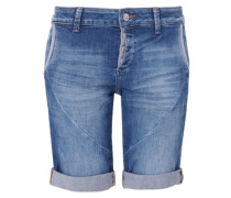 Smart Short: Denim-Bermuda blau
