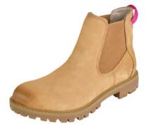 Chelsea Boots mit Zugschlaufe hellbraun