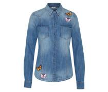 Jeansbluse 'lalima' blue denim / mischfarben