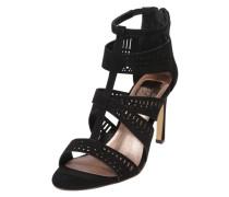 High-Heel Riemchen-Sandalette schwarz