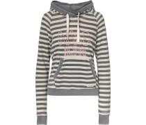 Sweatshirt 'double Hood' grau / weiß