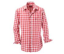 Kariertes Trachtenhemd rot / weiß