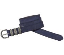 Gürtel »Leather belt 6« navy