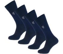 Larsen 4 Paar Socken blau