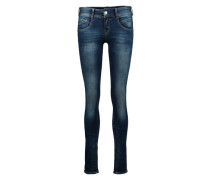 'Gila' Skinny Jeans mit Used Effekten blau