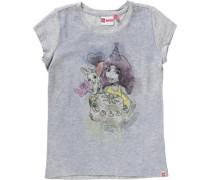 T-Shirt 'friends' für Mädchen graumeliert