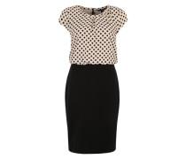 Ärmelloses Kleid schwarz / weiß