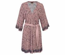 Edler Kimono mit Spitzenbesatz rosa