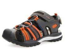 Sandale 'J Borealis' dunkelgrau / orange / schwarz