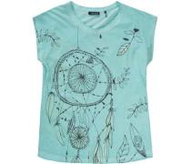 T-Shirt für Mädchen türkis / dunkelblau / gelb