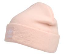 Beanie mit Logo-Aufnäher rosa