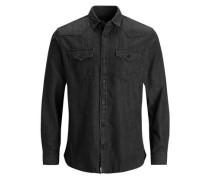 Western Langarmhemd black denim