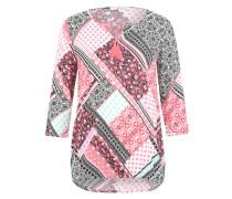 Bluse mit Allover-Print mischfarben