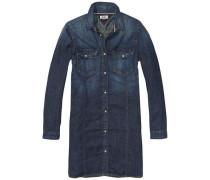 Kleid 'thdw Classic Shirt Dress L/S 12' blue denim / dunkelblau