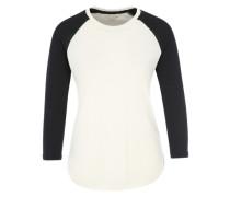 Baseball-Shirt weiß / schwarz