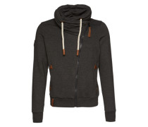Sweatjacke 'Jan Mopila' grau