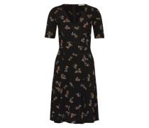 Kleid 'Miss Flowers' schwarz