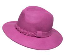 Fedora aus Filz 'Chester' pink / rot