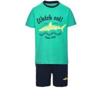 Shorts-Set 'Zacco' nachtblau / jade
