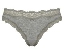 Slip Downtown Cotton Bikini grau