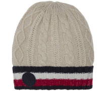 Müzte 'cable Corporate Beanie' champagner / navy / rot