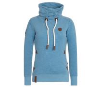 Sweatshirt 'Debil mit Stil Iii' blau