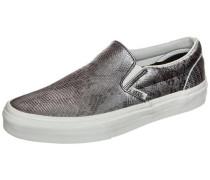 Classic Slip-On Disco Python Sneaker Damen silber