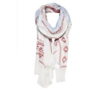 Bedruckter Schal weiß