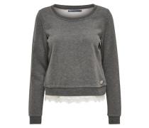 Sweatshirt Detailliertes grau / weiß
