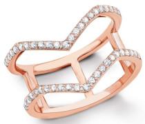 Silberring: Ring mit Zirkonia gold