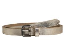 Ledergürtel im Metallic-Look gold