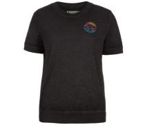 Burnout T-Shirt Damen schwarz