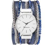 Quarzuhr 'e06019420' blau / silber