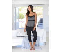 Capri-Pyjama schwarz / silber