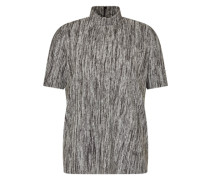 Shirt mit Stehkragen 'Yashannela' dunkelgrau