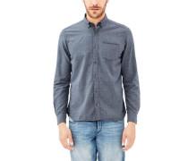 Hemd mit Glencheck-Muster blau
