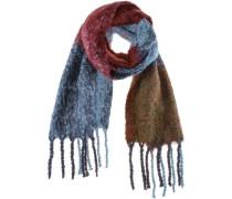 Schal himmelblau / braun / mischfarben / rot