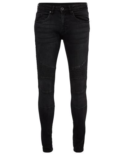 Slim Fit Biker Jeans black denim