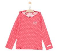 Kapuzenshirt mit Pünktchenprint pink / weiß