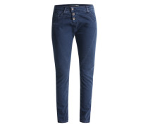 'Boyfriend' Hose in Jeans-Optik nachtblau