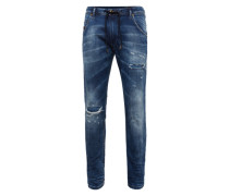 Jogg-Jeans in slim fit 'Krooley' blue denim