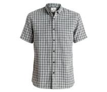 Kurzarmhemd »The Linen Check - Kurzarmhemd« blau