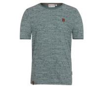 T-Shirt 'Hosenpuper Vii' grün / weiß