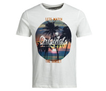 Fresh-Print T-Shirt weiß