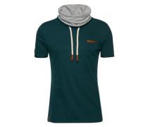 Male T-Shirt 'Fat Tony IX' braun / hellgrau / smaragd