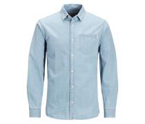 Klassisches Kurzarmhemd blue denim