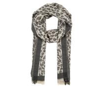 Schal mit Animal-Print schwarz