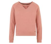 Sweatshirt 'Louisa' mit Spitzeneinsätzen rosé