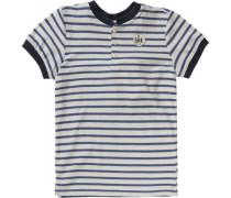 T-Shirt für Jungen dunkelblau / naturweiß